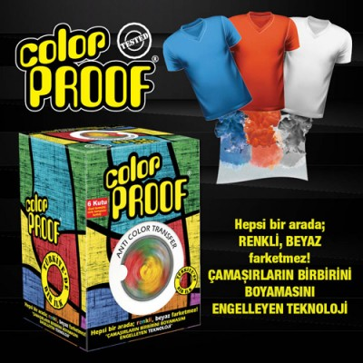 L'rouge Color Proof; Özel Formüllü Renk Koruyucu Kumaş 6x12 adet