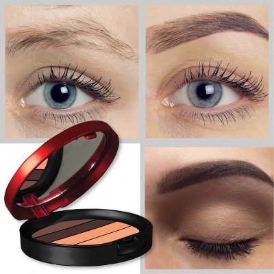 L'rouge Red & Black Eyebrow Kit / Dörtlü Kaş Farı
